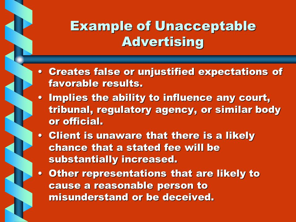 Chapter 4 professional ethics ppt video online download for Advertising agency fees