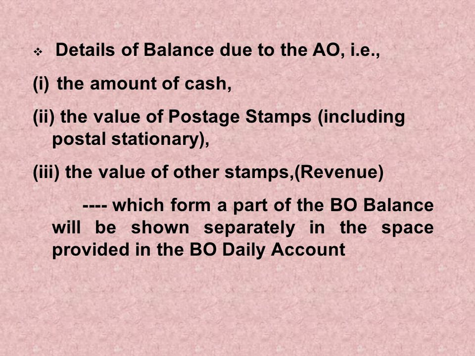 the value of Postage Stamps (including postal stationary),