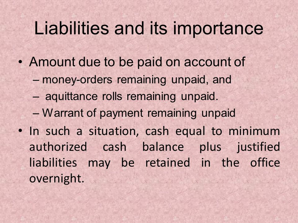 Liabilities and its importance