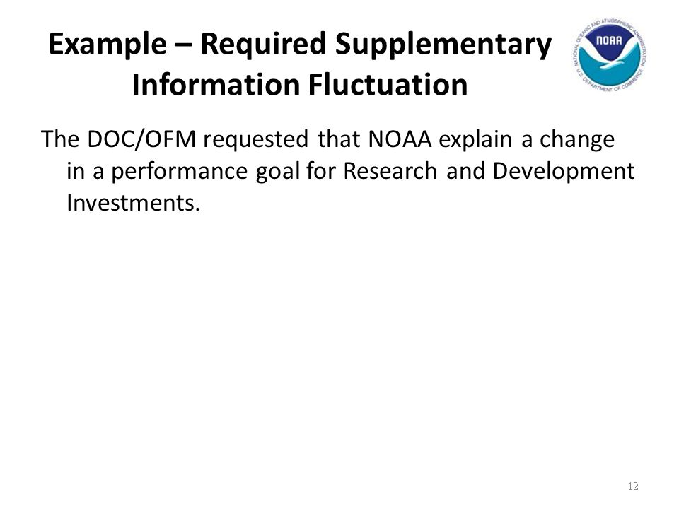 Example – Required Supplementary Information Fluctuation