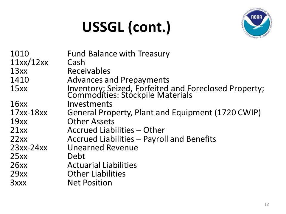 USSGL (cont.)