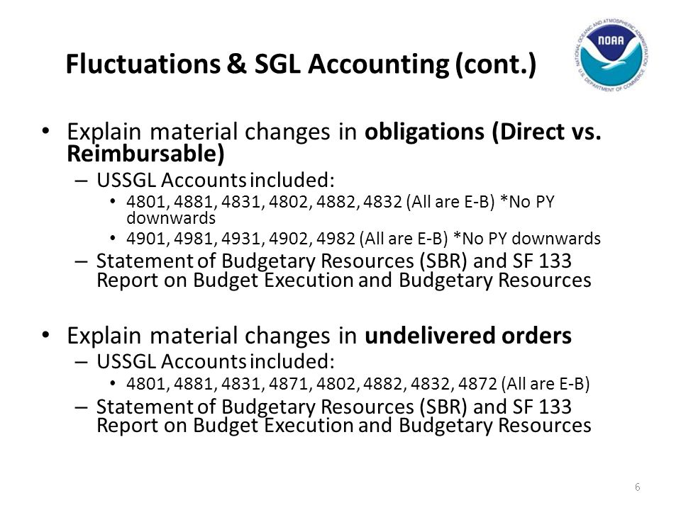 Fluctuations & SGL Accounting (cont.)
