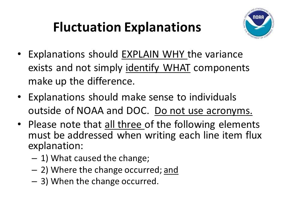 Fluctuation Explanations