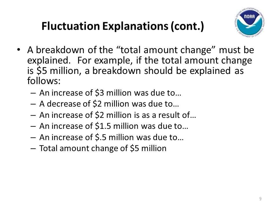 Fluctuation Explanations (cont.)