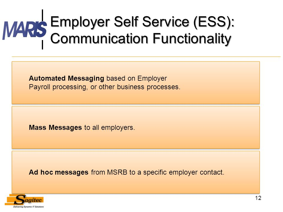 Employer Self Service (ESS): Communication Functionality