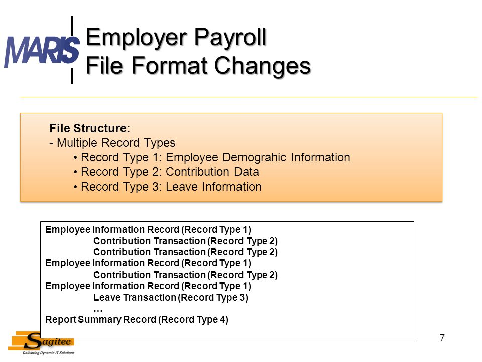 Employer Payroll File Format Changes