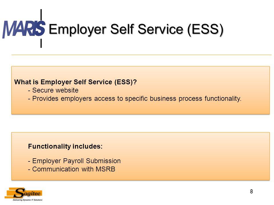 Employer Self Service (ESS)