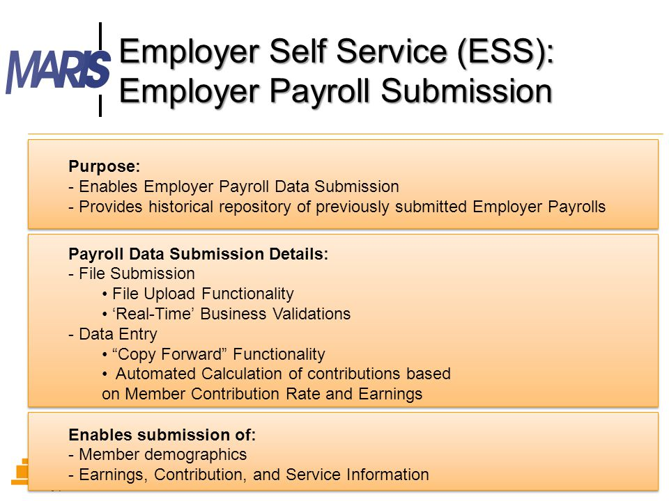 Employer Self Service (ESS): Employer Payroll Submission