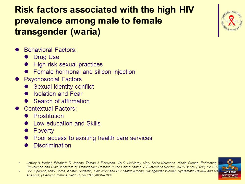 Risk factors associated with the high HIV prevalence among male to female transgender (waria)