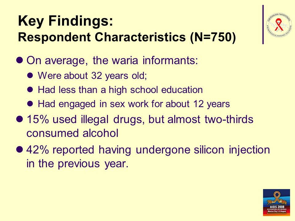 Key Findings: Respondent Characteristics (N=750)