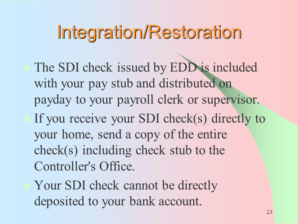Integration/Restoration