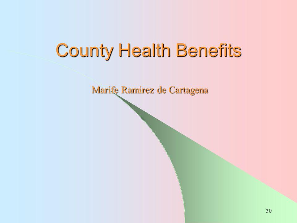 County Health Benefits