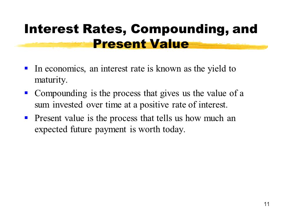 Interest Rates, Compounding, and Present Value