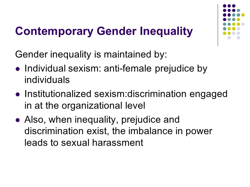 Contemporary Gender Inequality