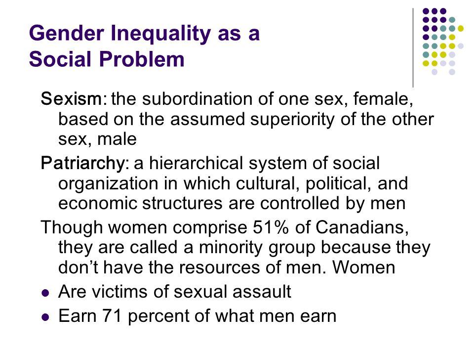 Gender Inequality as a Social Problem