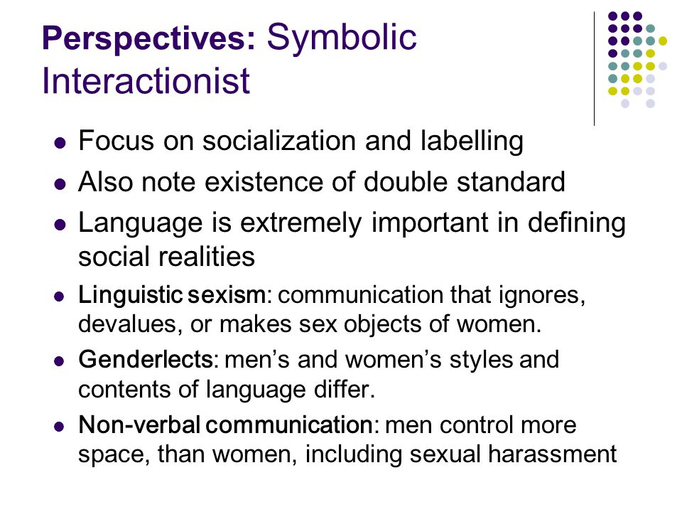 Perspectives: Symbolic Interactionist