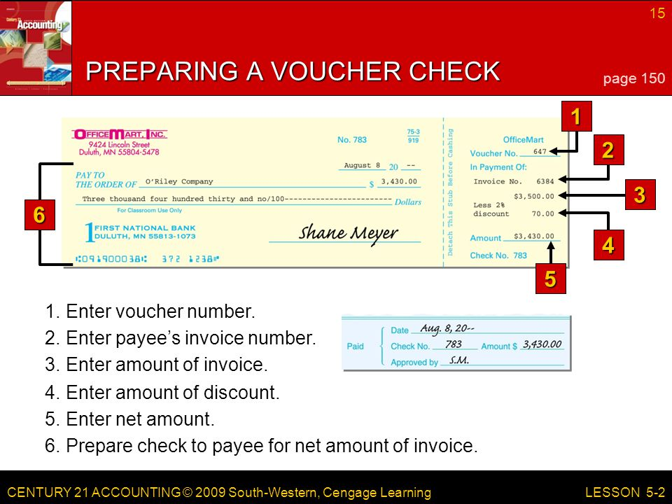 PREPARING A VOUCHER CHECK
