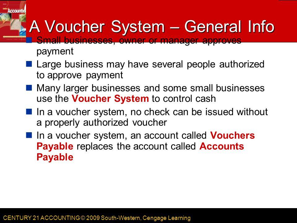 A Voucher System – General Info