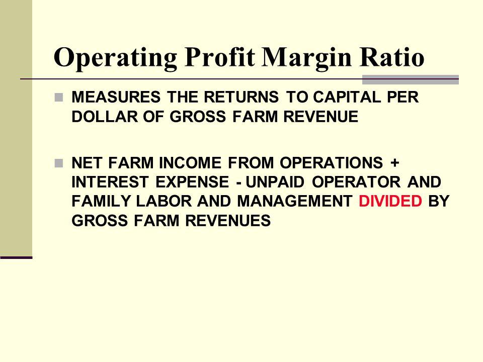 Operating Profit Margin Ratio