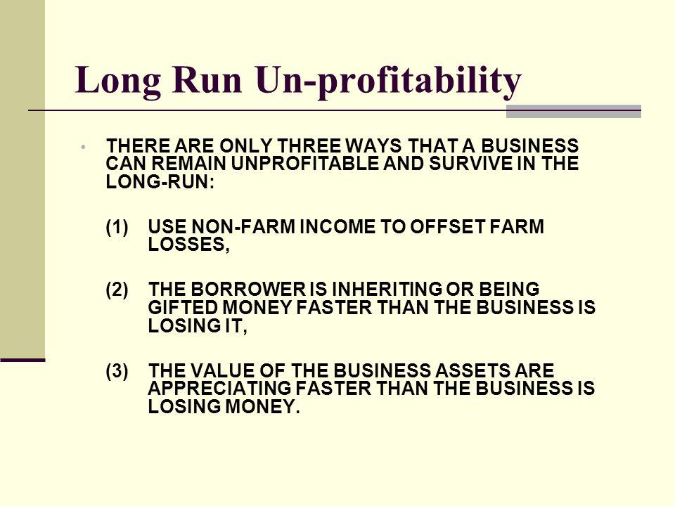 Long Run Un-profitability