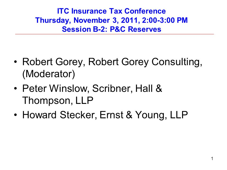Robert Gorey, Robert Gorey Consulting, (Moderator)