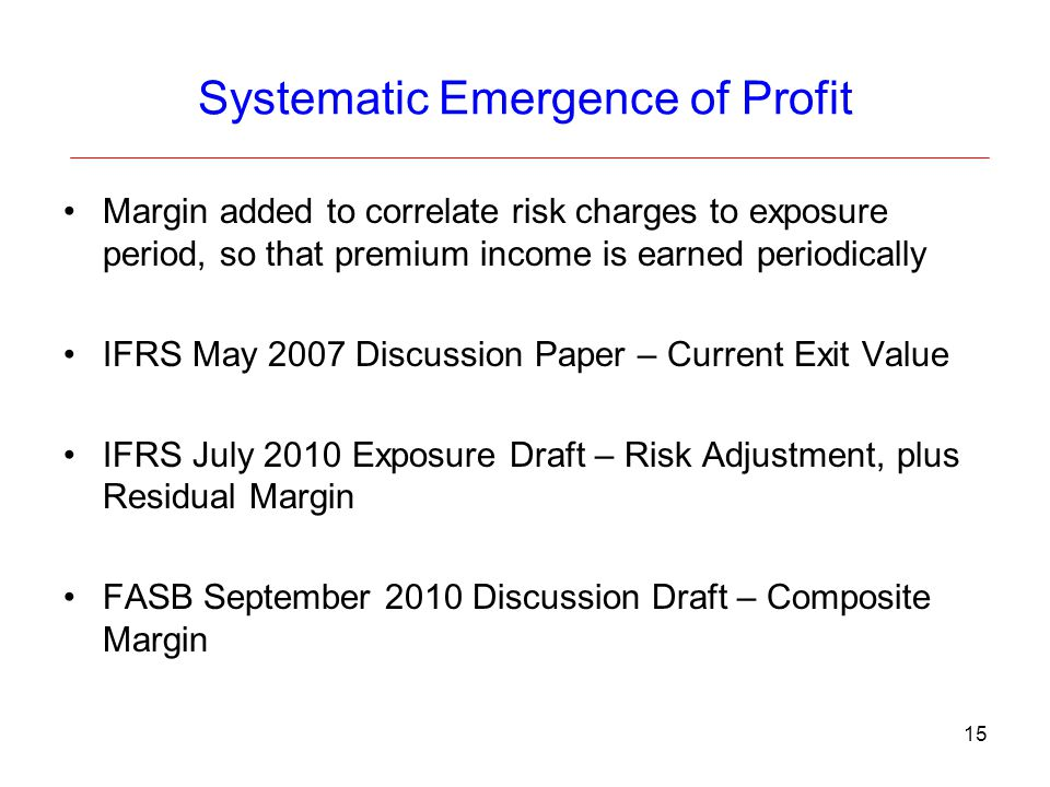 Systematic Emergence of Profit