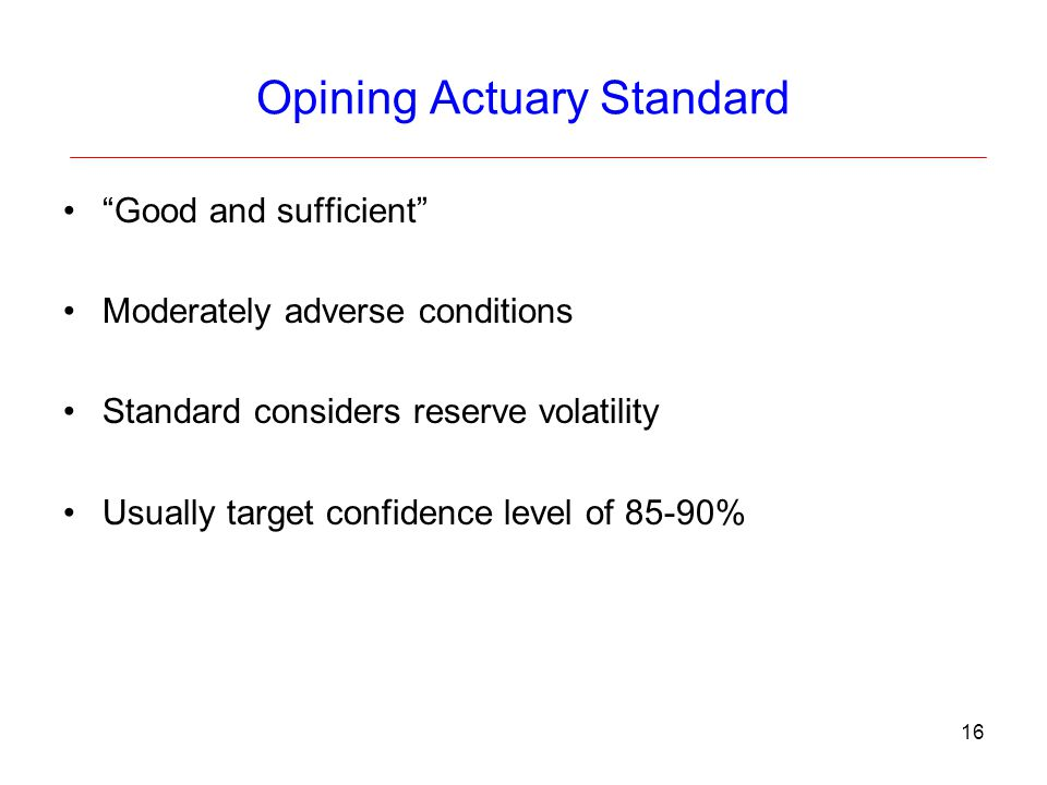 Opining Actuary Standard