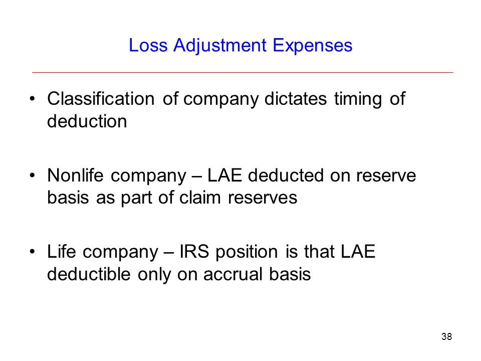 Loss Adjustment Expenses