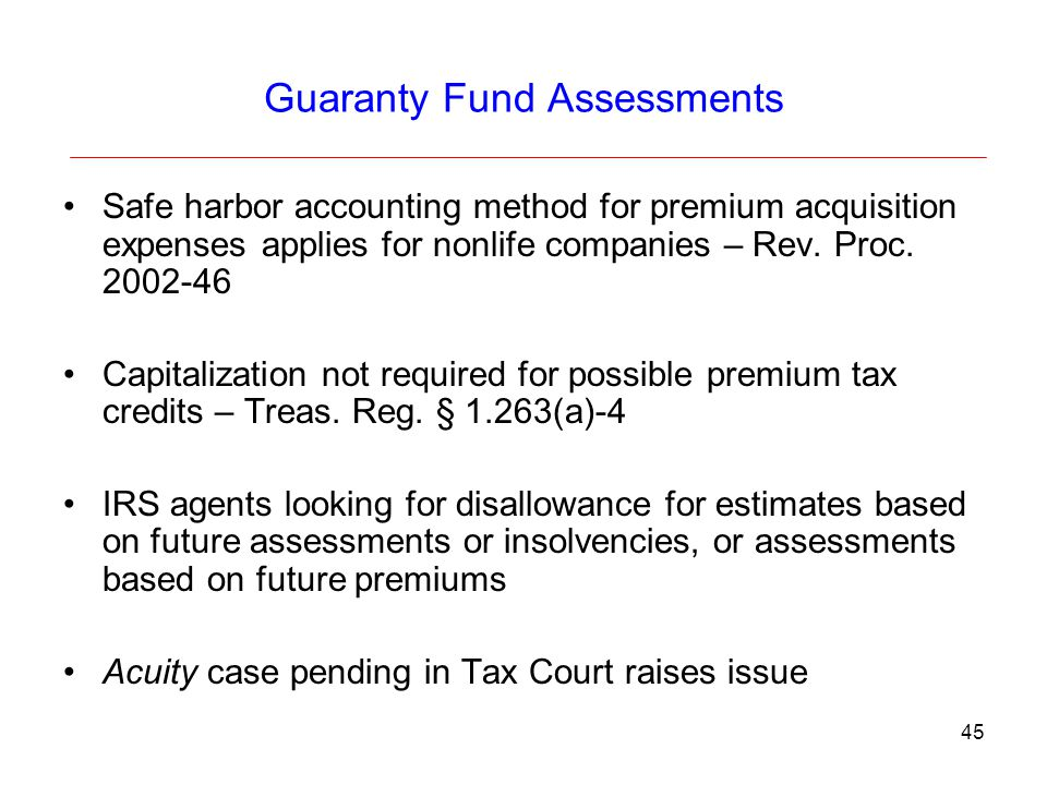 Guaranty Fund Assessments