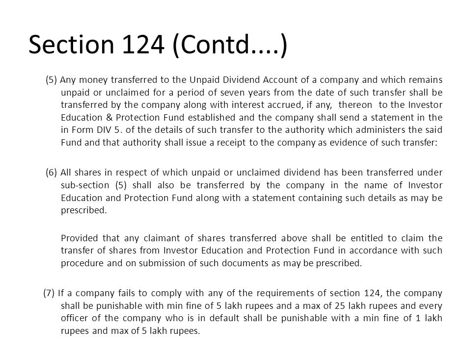 Section 124 (Contd....)