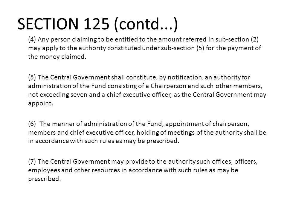 SECTION 125 (contd...)