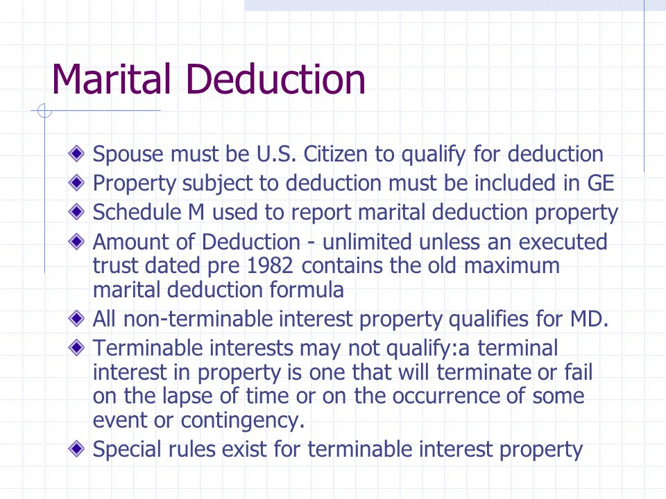 Marital Deduction Spouse must be U.S. Citizen to qualify for deduction