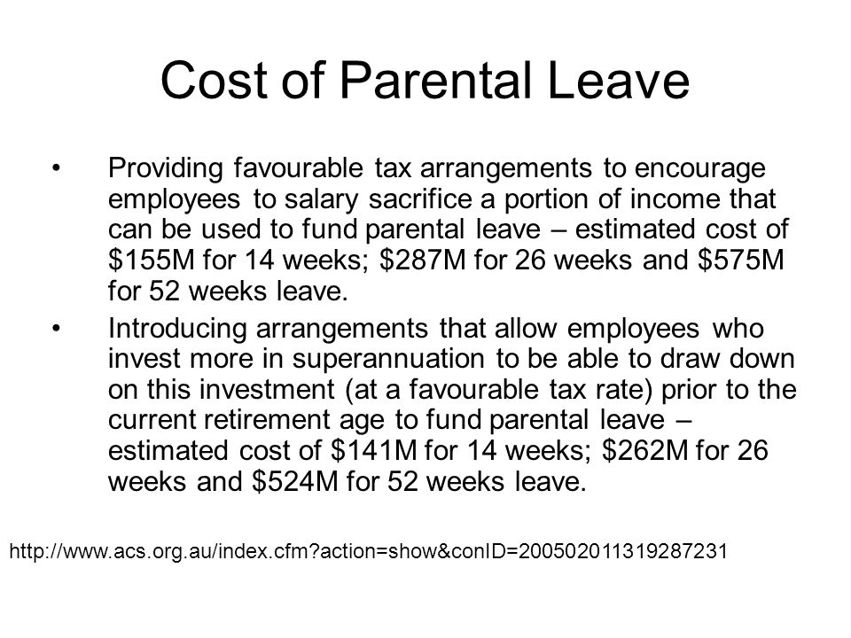 Cost of Parental Leave