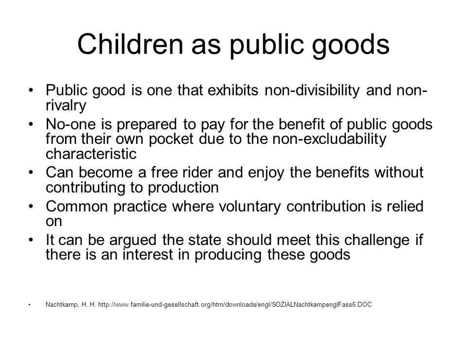 Children as public goods