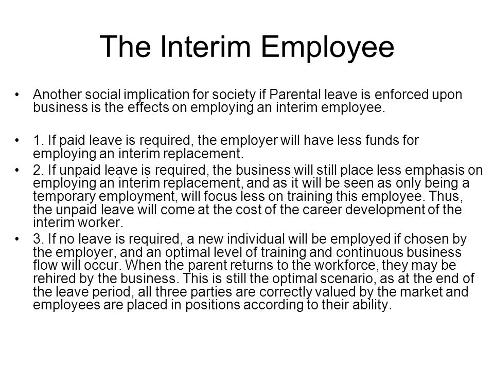 The Interim Employee
