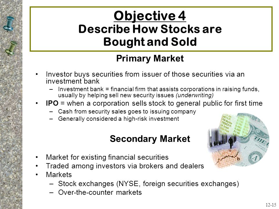 Objective 4 Describe How Stocks are Bought and Sold