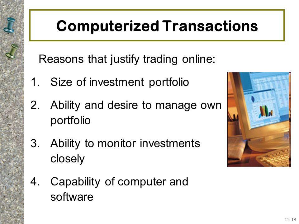 Computerized Transactions