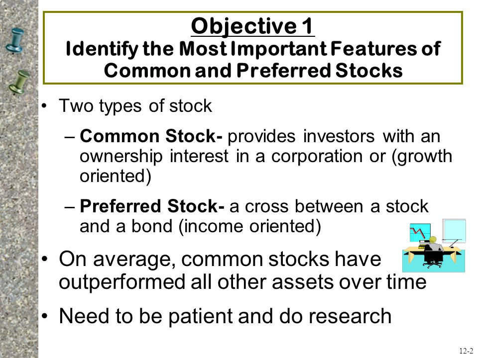 Objective 1 Identify the Most Important Features of Common and Preferred Stocks