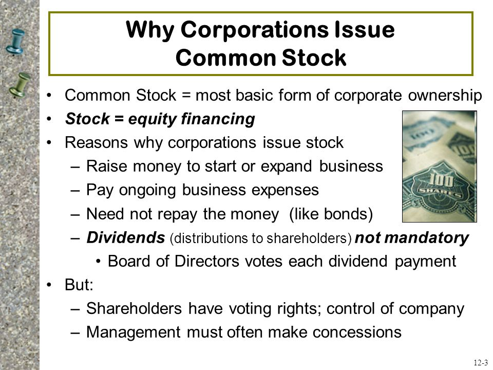 Why Corporations Issue