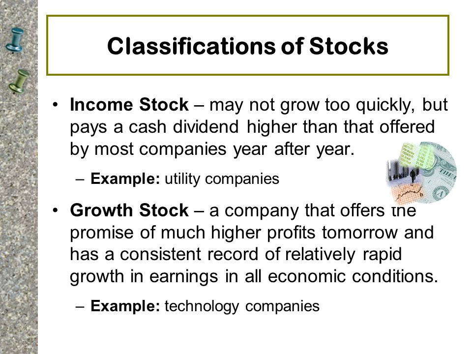 Classifications of Stocks