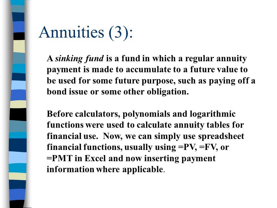 Annuities (3):
