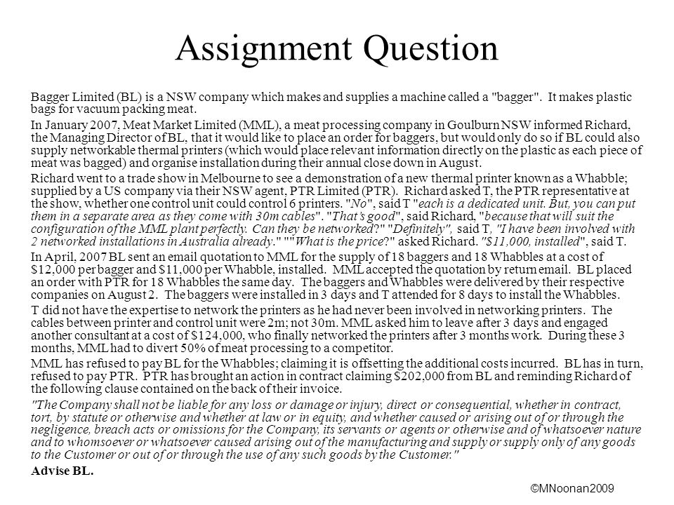 Assignment Question