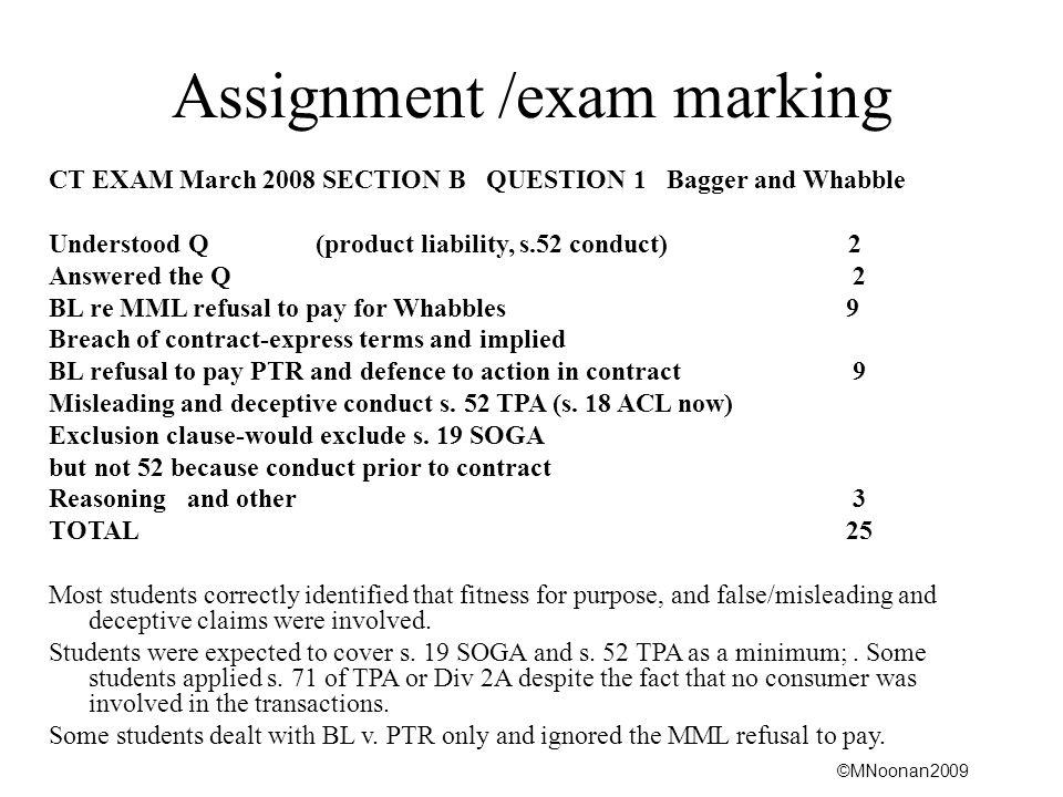 Assignment /exam marking