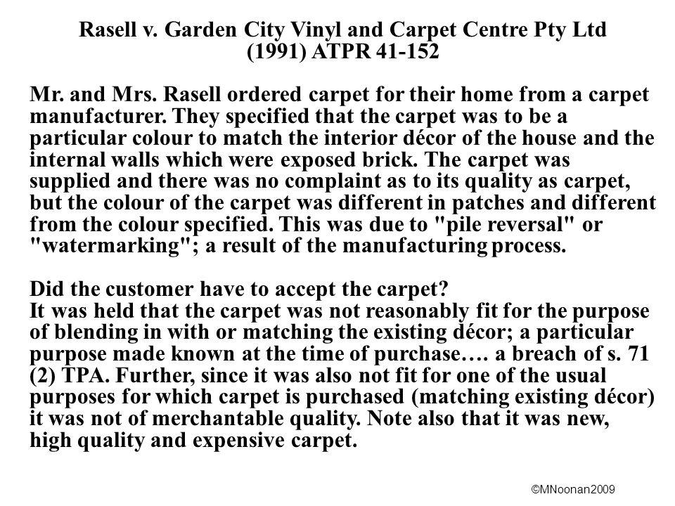 Rasell v. Garden City Vinyl and Carpet Centre Pty Ltd