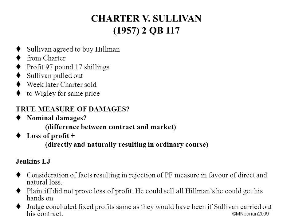 CHARTER V. SULLIVAN (1957) 2 QB 117