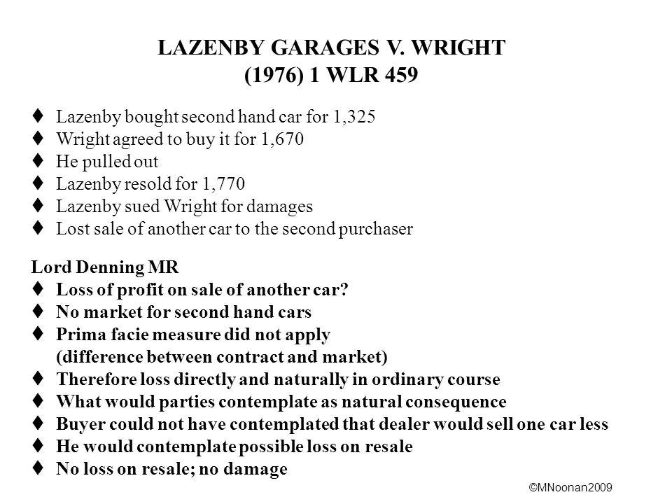 LAZENBY GARAGES V. WRIGHT