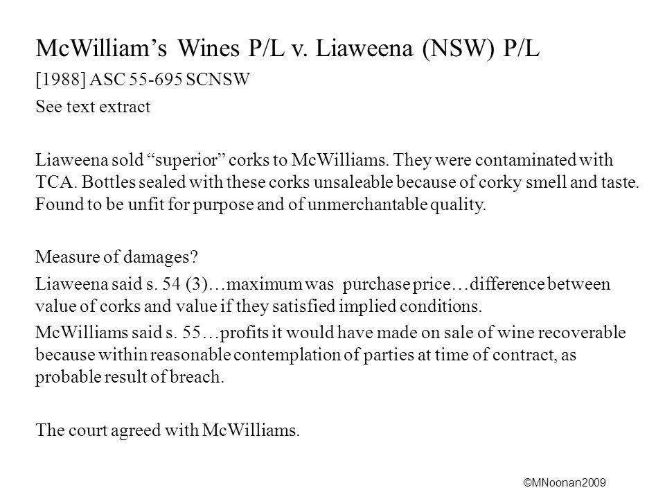 McWilliam's Wines P/L v. Liaweena (NSW) P/L