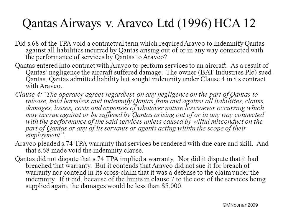 Qantas Airways v. Aravco Ltd (1996) HCA 12