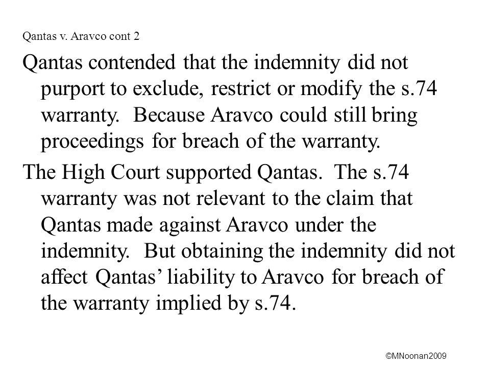 Qantas v. Aravco cont 2