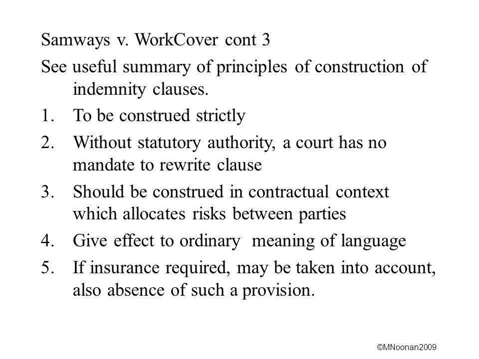 Samways v. WorkCover cont 3